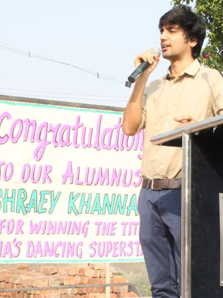 Shraey at his school VVDAV Public School