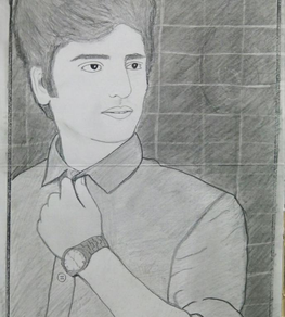 sketch of Shraey by tanya akhtar