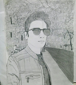 sketch of Shraey by shaheen tanya